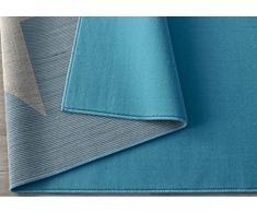Hochwertiger Teppich Sternteppich / Teppich / Stern Teppich / hochwertiger Jugendteppich / Kinderteppich / Wohnzimmerteppich / strapazierfähiger schöner Wohnzimmerteppich Modell Stern blau / Dieser wunderschöne Teppich ist in