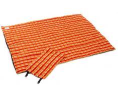 AMAZONAS Picknickdecke Molly mit beschichteter Unterseite und Thermofüllung 175x135 cm orangekariert