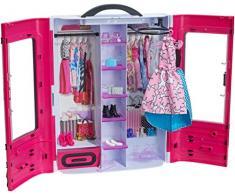 Barbie DMT57 - Kleiderschrank, Puppen Zubehör mit Kleidung und Accessoires, Mädchen Spielzeug ab 3 Jahren