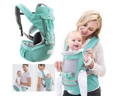 Babytrage Bauchtrage Rückentrage Baby Carrier, Multifunktionale Atmungsaktive Winddichte Abnehmbare Ergonomische Einfache Bauchtrage