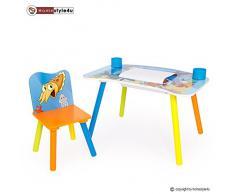 Homestyle4u Kindermaltisch Zeichentisch Kinder Tisch Stuhl Spieltisch Kindertisch Maltisch