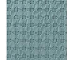 URBANARA Kissen Veiros - 100% reine Baumwolle, Grüngrau in strukturiertem Waffelmuster – 60 x 40 cm, 1 Kissenbezug + 1 Inlett, Deko-Kissen Zierkissen Sofakissen