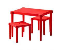 IKEA Kindersitzgruppe UTTER Kindertisch mit 2 Stühlen für drinnen und draußen - unverwüstlich - ROT