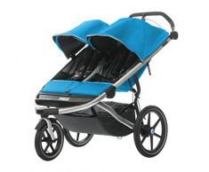 Thule 10101907 Urban Glide 2 Double Zweisitzer Kinderwagen / Jogger-Buggy, Blue