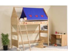 TAUBE Kinderbett Hochbett Ritter 182 cm (Ausführung: 90x190cm, weiß-lackiert, Ausstattung: mit Treppe)