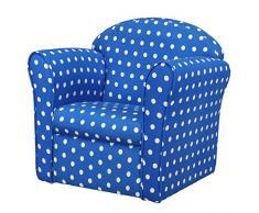 1home Classic Kindersofa Kindercouch Kindersessel Sofa Kindermöbel Spielzimmer Kinderzimmer Babysitz Babysessel Formstabiler Schaumsoff Mini Sessel Blau