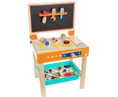 TOP BRIGHT Spiel Werkbank aus Holz 2in1 Schreibtisch Maltisch Werkbank