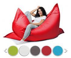 sunnypillow XL Sitzsack, Riesensitzsack Outdoor & Indoor 100 x 150 cm mit 140L Styropor Füllung Sessel für Kinder & Erwachsene Sitzkissen Sofa Beanbag viele Farben und Größen zur Auswahl Rot