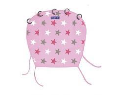Dooky Universal Cover Baby Pink / Pink Stars Sonnenschutz, Wetterschutz für Babyschale, Kinderwagen und Buggy (UV-Schutz LSF 40+, TÜV getestet, universale Passform), Pink