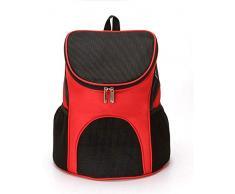 AYAW Pet Supplies Hunde und Katzen Reisen, um einen zusammenlegbaren Beutel atmungsaktive Rückentragen und Pet Travel Produkte durchzuführen 630 (Color : D(Red), Size : L)