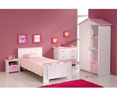 Parisot Jugendzimmer Kinderzimmer-Set 4 teilig Biotiful 1 Rosa-Weiß