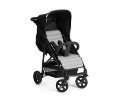Hauck Rapid 4 Kinderwagen von 0 Monaten bis 22 kg, faltbar, kompakt, mit einer Hand, mit Schlafposition, höhenverstellbarem Griff, großem Korb, schwarz grau