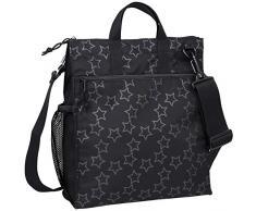 Lässig Casual Buggy Bag Organizer Kinderwagenorganizer/-tasche inkl. Stroller Hooks, Reflective Star, schwarz