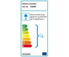 Elobra Kinder Lampe Rondell Eulen Familie Deckenleuchte Kinderzimmer Holz, lachsfarben 128268