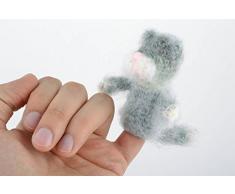 Handgemachtes Finger Kuscheltier gehakelt aus Wollgarn fur Puppentheater