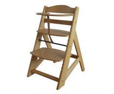 Treppenhochstuhl Babyhochstuhl Kinderhochstuhl Kindertreppenhochstuhl Babystuhl Hochstuhl - NATUR HC2533-D01 G