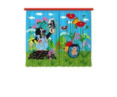 AG Design Gardine/Vorhang FCS XL 4316 Kinderzimmer Maulwurf