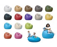 sunnypillow XL Sitzsack mit Füllung 100 cm Durchmesser 2-in-1 Funktionen zum Sitzen und Liegen Outdoor & Indoor für Kinder & Erwachsene viele Farben und Größen zur Auswahl Blau