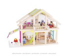 Goki 51588 Puppenhaus Veranda Susibelle aus Holz/Textil