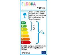 Elobra Kinderlampe Deckenleuchte Wildnis Dschungel mit LED Nachtlicht, Kinderzimmer, Holz, grün, A++