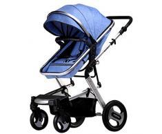 KHUY Kinderwägen for Babys, Kinderwagen und Kinderwagen, Einstellbarer High View Pram, Travel System mit Baby-Korb und Anti-Shock Springs, Infant Carriage Kinderwagen (Color : Gray-A)