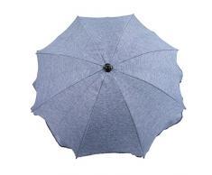 BAMBINIWELT Sonnenschirm für Kinderwagen Ø68cm UV-Schutz50+ Schirm Sonnensegel Sonnenschutz MELIERT (blau meliert)