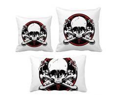 DIYthinker Skelett Piraten Dekoration Muster werfen Kissen Set Kissen Deckel Startseite Sofa Dekor Geschenk