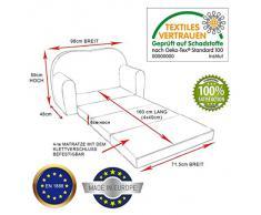 Kindersofa Bettfunktion 3in1 Sofa Pikolino Kindersessel Ausziehbett Bett C2+ blau Formel 1