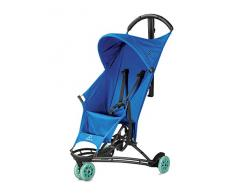 Quinny Yezz Buggy (federleicht (nur 5 kg), zusammengeklappt einfach über die Schulter zu tragen, komfortable Sitzfläche aus Fallschirmmaterial, Staufach am Rücken) blau