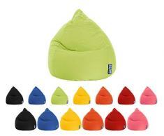 lifestyle4living Sitzsack für Kinder und Jugendliche, Grün, Microfaser Bezug, Pflegeleichter und bequemer Beanbag Easy XL Liegesack 220 l
