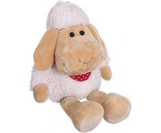 Bieco Plüsch Schaf Polly   ca. 50 cm   XXL Kuscheltier   Baby Kuscheltiere   Baby Spielzeug   Kuscheltier Baby   Baby Einschlafhilfe   Kuscheltiere für Babys   Stofftier Baby   Kuscheltier Schaf