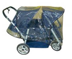 Regenschutz für den Krippenwagen Helena
