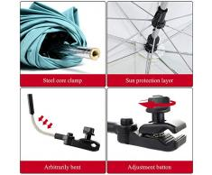 NIBESSER Universal Kinderwagenschirm Gebogen Sonnenschirm Regenschirm Sonnensegel Durchmesse 75cm UV-Schutz für Kinderwagen Babywagen & Buggy Zubehör