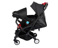 YRSTC Buggies,Compact Pram 5.9kg, Hoch Landschaft Reise Kinderwagen, mit Korb 2.8KG Kinderwägen for Baby, große Sitzfläche zusammenklappbarer Kinderwagen (Color : C)