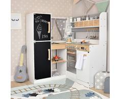 SUN Kinderküche Paris XXL aus Holz, Spielküche in grau-Weiss, Küche