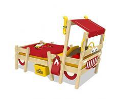 WICKEY Kinderbett CrAzY Sparky Pro - Spielbett im Feuerwehr-Look - Einzelbett - 90x200 cm