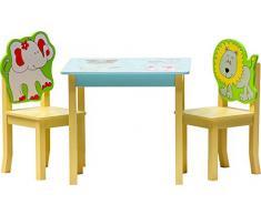 IB-Style - Kindersitzgruppe SAFARI | 3 Kombinationen | 4-er Set: 1x Tisch + 2x Stühle + 1x Truhenbank - Stuhl Truhenbank Kindermöbel Tisch Kindertisch Kinderstuhl