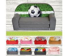 FORTISLINE Kindersofa Mini zum Aufklappen Football W386_03