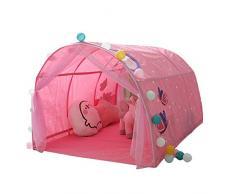 Freedomanoth Spielzelt-Betthimmel Kinder Tunnel Für Hochbett Spielbett Traumzelt Bettzelt Spielhaus Zelt Kinderzimmer Dekoration Weihnachts Geschenk