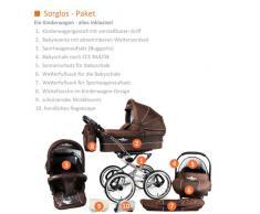 Bergsteiger Venedig Nostalgie Kinderwagen 3 in 1 Retro Kombikinderwagen Megaset 10 teilig inkl. Babyschale, Babywanne, Sportwagen und Zubehör