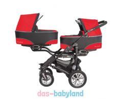 BabyActive Twinni Zwillingskinderwagen Geschwisterwagen Zwillingsbuggy Nr.03 Mexicanred