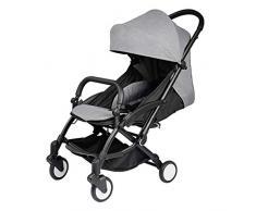 YRSTC Buggies,Kinderwagen, leichte High Landschaft Spaziergänger, leichte Kinderwagen mit Aluminiumrahmen, große Sitzfläche Kinderwägen for Baby, große Speicher-Korb-Kinderwagen (Color : B)