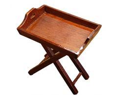 YSoutstripdu 1/12 Holz Miniatur Tablett Tisch Möbel DIY Puppenhaus Küche Zubehör