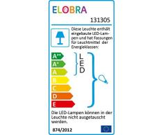 Elobra Deckenleuchte Tiere Blatt Wildnis | Tolle Wandlampe oder Deckenlampe für das Kinderzimmer, Lampe Dschungel, grün, Blatt-Design, aus Echtholz, Made in Germany