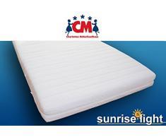 Sunrise Light Kindermatratze Babymatratze 90x200 cm Schaumstoffmatratze Bezug abnehmbar waschbar Kinder Matratze Schaumstoff punktelastisch, schadstoffgeprüft mit Öko-Tex Zertifizierung.