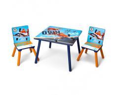 Disney Planes Tisch mit Stühlen 60x60cm aus Holz Kindersitzgruppe Kindersitzgarnitur NEU