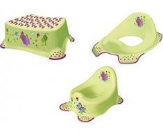 3er Set Hippo grün Topf + WC Aufsatz + Hocker Toilettentrainer