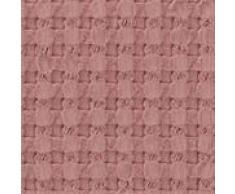 URBANARA Kissen Veiros - 100% reine Baumwolle, Altrosa in strukturiertem Waffelmuster – 60 x 40 cm, 1 Kissenbezug + 1 Inlett, Deko-Kissen Zierkissen Sofakissen
