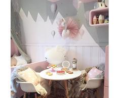 Leoboone Nette 3D Golden Crown Swan Wall Art hängende Mädchen-Schwan Puppe Stofftier Tierkopf-Wand-Dekor für Kinderzimmer Geburtstags-Geschenk