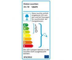 Elobra Kinder Lampe Bildwolke Sonne mit Blume Deckenleuchte Kinderzimmer Holz mit Nachtlicht LED, weiß 126479
